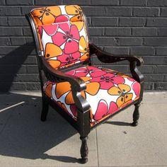 Black Floral Armchair  by Henry Road  $615