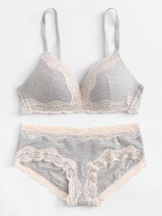 To find out about the Lace Trim Lingerie Set at SHEIN, part of our latest Bra & Panty Sets ready to shop online today! Lingerie Outfits, Lingerie Models, Lingerie Sleepwear, Bra Lingerie, Women Lingerie, Pretty Lingerie, Beautiful Lingerie, Cute Underwear, Cute Bras