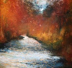 'Through the Bright Burning' Acrylic on Paper 52 x 56 cm by Stewart Edmondson