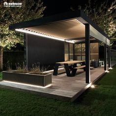Back Garden Design, Terrace Design, Backyard Garden Design, Backyard Landscaping, Outdoor Patio Designs, Outdoor Pergola, Outdoor Rooms, Outdoor Furniture, Modern Gazebo