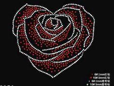 FS 2pc/lot Heart Shape Rose pattern transfer on design hot fix rhinestone motif rhinestone iron on transfers designs strass iron
