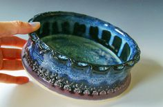 Pottery Stoneware Casserole / Brie Baker / by riverstonepottery, $35.00