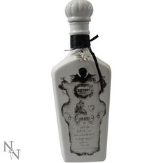 This Nemesis Now Alchemist Collection Love Potion Bottle is a unique and utterly awesome piece of home ware! This fantastic bottle is one of Halloween Bottles, Halloween Labels, Bottles And Jars, Perfume Bottles, Gothic Kitchen, Poison, Angel Outfit, Alchemist, Pagan
