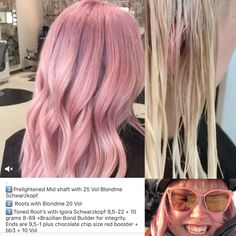 Bright Hair Colors, Hair Color Pink, Pink Hair, Hair Inspo, Hair Inspiration, Hair Color Formulas, Hair Toner, Schwarzkopf Hair, Hair Trends