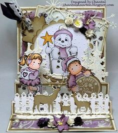 Cards made by Chantal: Let it snow - Trapjes Easelkaart