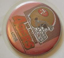 """San Francisco 49ers Pin Button 3 1/2"""" Vintage NFL Licensed USA Made 1990's  NIP"""
