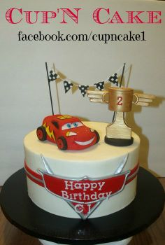 Lightning McQueen cake -