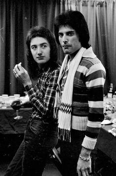 Freddie Mercury and John Deacon