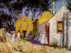 """""""Provincetown Village Street Scene,"""" Pauline Palmer, oil on canvas, 17 x 23"""", private collection."""
