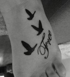 Free Bird Foot Tattoo