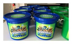 Skylander Party Buckets - to order email jackie@babazoo.co.za