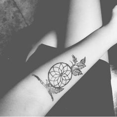 small dreamcatcher forearm tattoo design