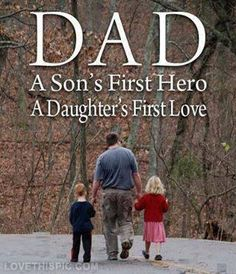 My dad is another person very important person in my life. Without him i wouldnt know how too grow up. Fathers Day Quotes, Fathers Love, Happy Fathers Day, Happy Mothers, I Love My Dad, First Love, Today Quotes, Life Quotes, Qoutes