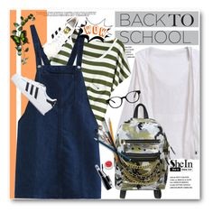 """""""The First Day of School!"""" by svijetlana ❤ liked on Polyvore featuring Ash, GlassesUSA, adidas, BackToSchool and polyvoreeditorial"""