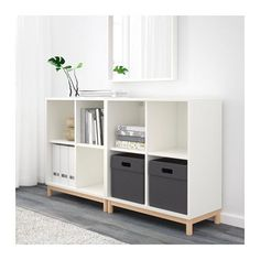 EKET Storage combination with legs, white white