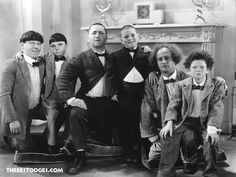 The Stooges, The Three Stooges, Little Rascals Quotes, Harpo Marx, Comedy Acts, Film Logo, Abbott And Costello, Make Em Laugh, Classic Comedies