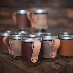 Hey, I found this really awesome Etsy listing at https://www.etsy.com/listing/208859972/16oz-leather-mason-jar-travel-mug-gift