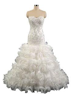 GL bridal Women's Ruffles Beaded Applique Strapless Mermaid Wedding Dresses US2 GL bridal http://www.amazon.com/dp/B01CZLPKBU/ref=cm_sw_r_pi_dp_Sl85wb17FSWP3