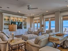 coastal family room | The Veranda - Gulf Shores, Alabama