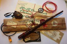 Complete Wizard Kit, Harry Potter inspired, Magic Wand, Hogwarts Letter, House Medallion, Potion Bottle, Dragon Egg by LiselleMade on Etsy https://www.etsy.com/listing/109982042/complete-wizard-kit-harry-potter