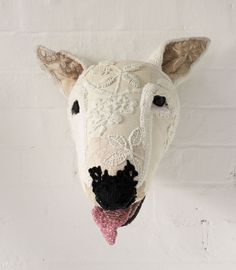 Donya Coward : Wall Mounted Dog Heads. English Bull Terrier