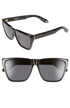 5be1f3e0298a Free shipping and returns on Givenchy 58mm Flat Top Sunglasses at  Nordstrom.com. Flat
