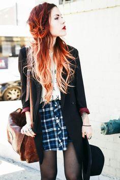 Luanna Perez grunge/vintage outfit