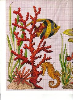 Ru / фото - 192 - mosca cross stitch - under th Diy Bead Embroidery, Cross Stitch Embroidery, Embroidery Patterns, Cross Stitch Patterns, Beading Patterns, Cross Stitch Sea, Cross Stitch Animals, Cross Stitching, Needlepoint
