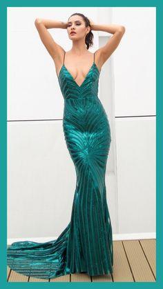 f2bc1336e9c Sparkle and shine from head to toe in this glam-azing green sequin maxi  dress. Fashion Genie Boutique