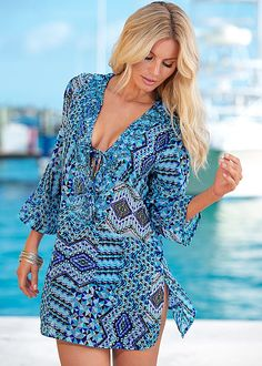 Print tunic Cover Up