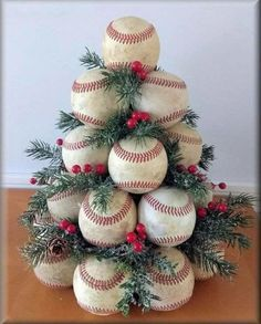 Baseball christmas tree Finest craft christmas tree mother concepts Plus Dimension Marriage c Diy Christmas Tree, Christmas Projects, Winter Christmas, Christmas Tree Decorations, Christmas Wreaths, Christmas Ideas For Mom, Themed Christmas Trees, Christmas Lights, Baseball Christmas Ornaments