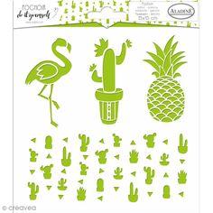 Compra nuestros productos a precios mini Plantilla Do it yourself d'Aladine - Cactus - 15 x 15 cm - Entrega rápida, gratuita a partir de 89 € ! Deco Cactus, Stencils, Diy Fleur, Scrapbooking, Tampons, Pineapple, Cricut, Tropical, Masking Tape