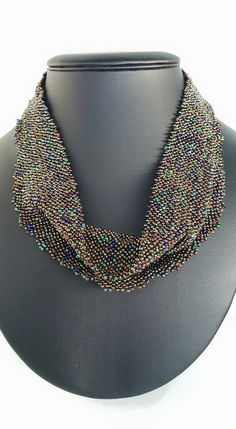 "Beaded ""scarf"" by DamnedHalo Beadwork"