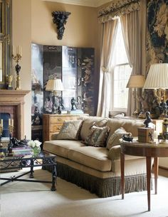 Living Area by Reggie Marshall and Jim Clements #marshallclements #interiors