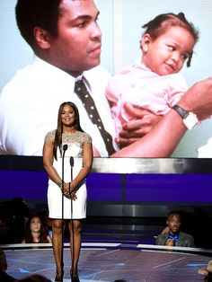 Laila Ali Honors Father Muhammad Ali at BET Awards with Emotional Tribute Bet Awards 2016, Laila Ali, Jennifer Hudson, Beyonce Knowles, Muhammad Ali, Bobby Brown, Worlds Of Fun, Things To Know, Black Is Beautiful