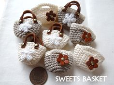Mini crocheted bags