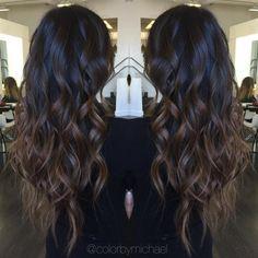 """261 Gostos, 29 Comentários - Orange County Hair Colorist (@colorbymichael) no Instagram: """"Brunette Ombré... #balayage #olaplex #hairtrends #ombre #colormelt #sombre #hairpainting…"""""""