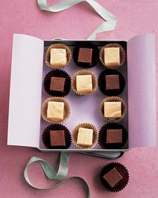 love the idea of placing individual pieces of fudge into paper cups