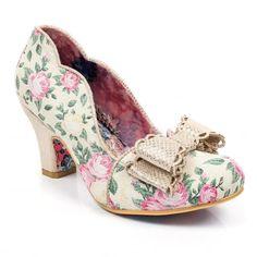9309a06914a Deco Dreams Cream Multi Floral Irregular Choice Bow Shoes