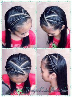 Little Girl Hairdos, Girls Hairdos, Cool Braid Hairstyles, Chic Hairstyles, Braids For Kids, Girls Braids, Childrens Hairstyles, Braid Headband, Lace Braid