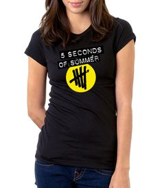 5 Seconds Of Summer - Women - Shirt - Clothing - White, Black, Gray - @Dianov93