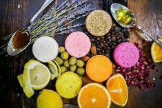 Naturseife für Haare mit Orangen und Zitronenextrakt, Honig, Olivenöl und Kaffeebohnen