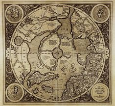 Antique world maps Old World Map illustration by mapsandposters, $9.99