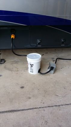 RV Living with Pauly: Protect your outside RV cords from the elements. Also works for water hoses. Rv Camping Tips, Travel Trailer Camping, Camping Glamping, Rv Travel, Camping Life, Rv Life, Camping Supplies, Camping Signs, Camping Tools