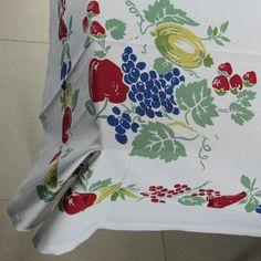 Retro Fruits Cotton Tablecloth | Country Kitchen Linens | RetroPlanet.com