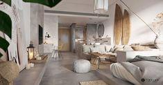 Un mini loft en tons gris - Home Page Mini Loft, Small Studio Apartment Design, Studio Apartments, Small Apartments, Futuristisches Design, Deco Design, Design Moderne, Design Ideas, Modern House Design