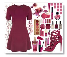 """""""Passionate Plum Purple"""" by angelstylee ❤ liked on Polyvore featuring Topshop, Victoria's Secret, Revlon, tarte, Stila, Eos, Burberry, Fresh, Dolce&Gabbana and Urban Decay"""
