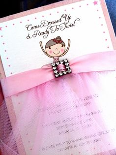 ballerina party invitation - so cute! This party is perfect