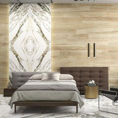 On detail. Calacatta Macchia Vecchia Quartermatch is a porcelain with striking and crisscrossed veining. A perfect facsimile of a with all the advantages and ease of Large in format, four 755 x 1510 x 12 mm tiles or panels create a feature. Calacatta Marble, Travertine, Marble Slabs, Living Spaces, Living Rooms, Statement Wall, Grey And Gold, Amazing Bathrooms, Feature Walls