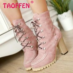 CooLcept Free shipping ankle half short high heel boots women snow fashion winter warm boot footwear shoes P9230 EUR size 34-39 alishoppbrasil